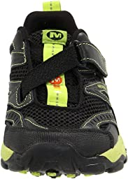 Merrell Merrell LightSpeed Z-Rap Sneaker (Toddler/Little Kid/Big Kid),Black/Macaw Green,10 M US Toddler