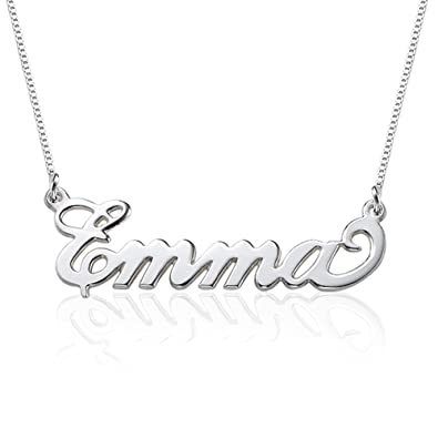 Small Name Necklace - 925 Sterling Silver Xs Name Pendant - Custom Made Jewellery with Any Name GKtOsz