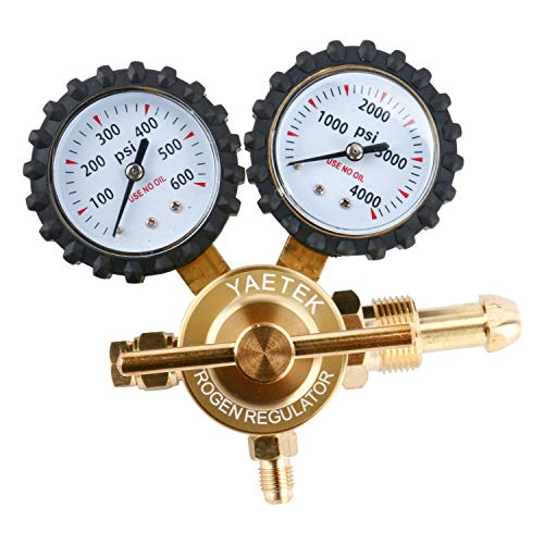 (Nitrogen Regulator with 0-400 PSI Delivery Pressure, CGA580 Inlet Connection and 1/4-Inch Male Flare Outlet Connection (400PSI))