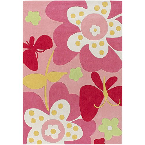 Surya Chic CHI-1007 Contemporary Hand Tufted 100% Poly-Acrylic Baby Pink 4'10
