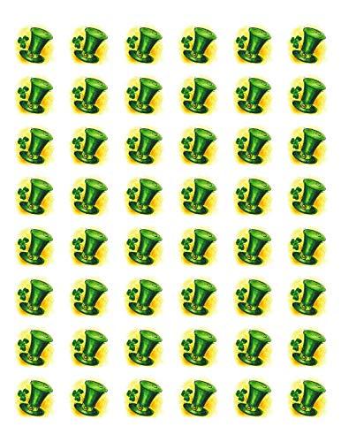 Special Pack 48 ST Patricks Day LEPRACHAUN HAT Envelope Seals Labels Stickers 1.2