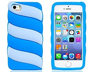 HE SHOPColor Contrast Silicone Protective Case for iPhone 5S/5 (Blue)