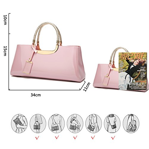 Women Pink with Braided Charms Golden Coolives Strap Handle Blue White Handbag Long Shoulder Navy f11dq