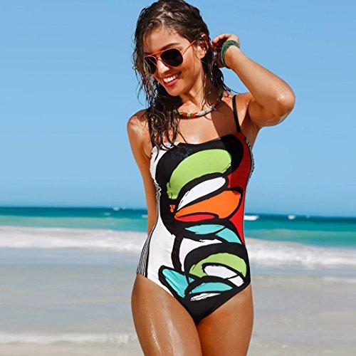 Moda Swimwear Costumi Stampare Trada Swimsuit Halter Sexy Swimsuit Up Jumpsuit Multicolore Piece One Schienale Colorato Swimwear Bikini Lace Donna Estate Monokini Senza Beachwear q44wtI7