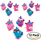 Unicorn Wind-Ups For Party Favors, 12-Pack