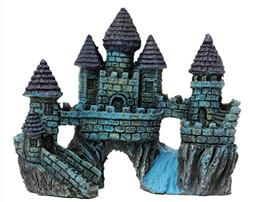 Aquariums Decorations Castle Tower Resin Cartoon Castle Ornaments Fish Tank Aquarium Decoration Accessories by VRL