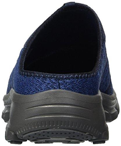 Maille Femme Easy avec Laçage Going Easy élastique Version Going des Bleu Marine Gritty Skechers49329 Repute en Knitty Tricot Mules YaO8q