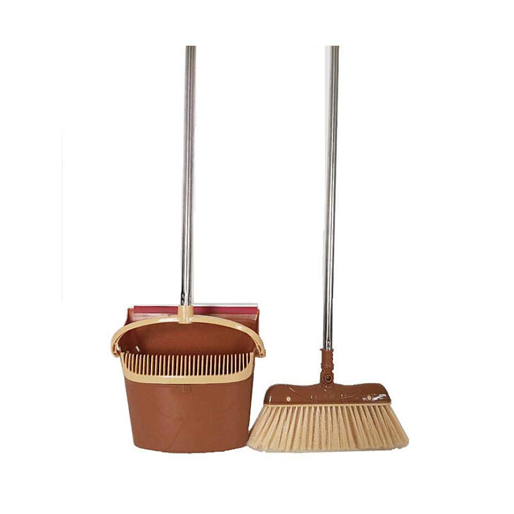 tingtin Multipurpose Broom and Dustpan Set With Combs Not Sticking Hair For Hair Removal For Office and Home Use Trash Shovel Sweeping Artifact