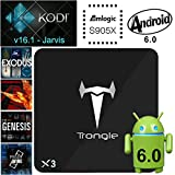 [Android 6.0 Marshmallow] X3 Amlogic S905X Quad Core Android TV Box Kodi 16.1 Fully Loaded Pre-installed Add-ons 1G/8G WIFI HD2.0b 4K 60fps Blu-Ray Streaming stick Media Player HDR10 HLG HDR Kodi Box
