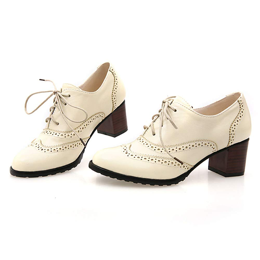 Amazon.com | FORUU Fashion Womens Hollow Shoes Shallow Mouth Single Shoes Thick Heel Shoes | Shoes