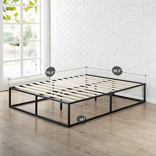 Zinus Joseph Modern Studio 14 Inch Platforma Bed Frame / Mattress Foundation / Boxspring Optional / Wood slat support, Queen