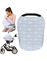 Baby Car Seat Cover canopy nursing and breastfeeding cover( classical arrows) BOBEBE Online Baby Store From New York to Miami and Los Angeles