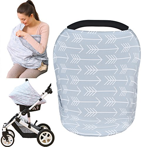 Great Deal! Baby Car Seat Cover canopy nursing and breastfeeding cover( classical arrows)