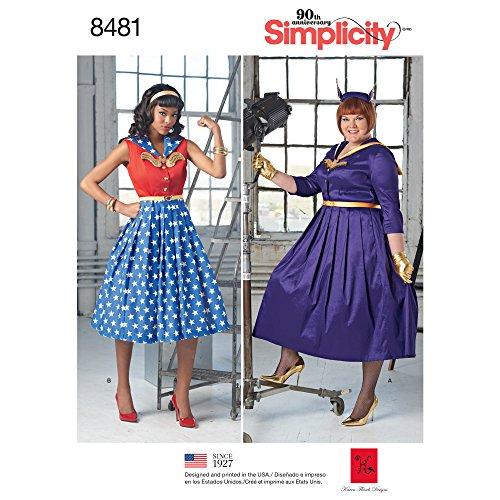 (Simplicity Creative Patterns Misses' & Women's Rockabilly Dresses Pattern, AA (10-12-14-16-18))