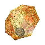 Artsadd Fashion Umbrella The Ballet Dancer In Yellow And Red Foldable Sun Rain Travel Umbrella
