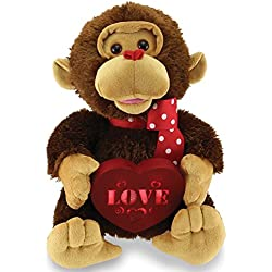 Animated Singing And Dancing Lucky In Love Valentine's Monkey Stuffed Plush