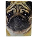 iPad 9.7 2018 2017 Case - Pug Puppy Dog Patern Leather Flip Stand Case Cover for Apple iPad 9.7 2017