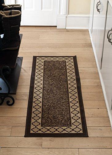 [Diagona Designs Contemporary Moroccan Trellis Design Non-Slip Runner Rug, 31