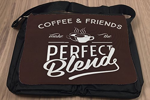 Borsa Tracolla Coffee Cafe Bar Amici Stampato