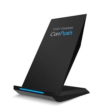ConPush Qi Cargador inalámbrico Soporte de teléfono Cargador ...