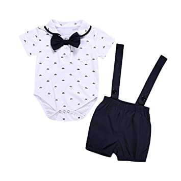 9c306d111 Cyhulu Toddler Infant Baby Boy Gentleman Outfits Suits