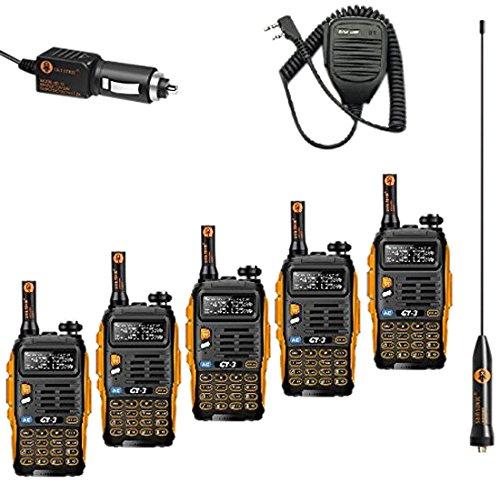 Baofeng UV-5R Walkie Talkie Dual Band Radio Walkie Talkie Set of 8 (Black) - 3