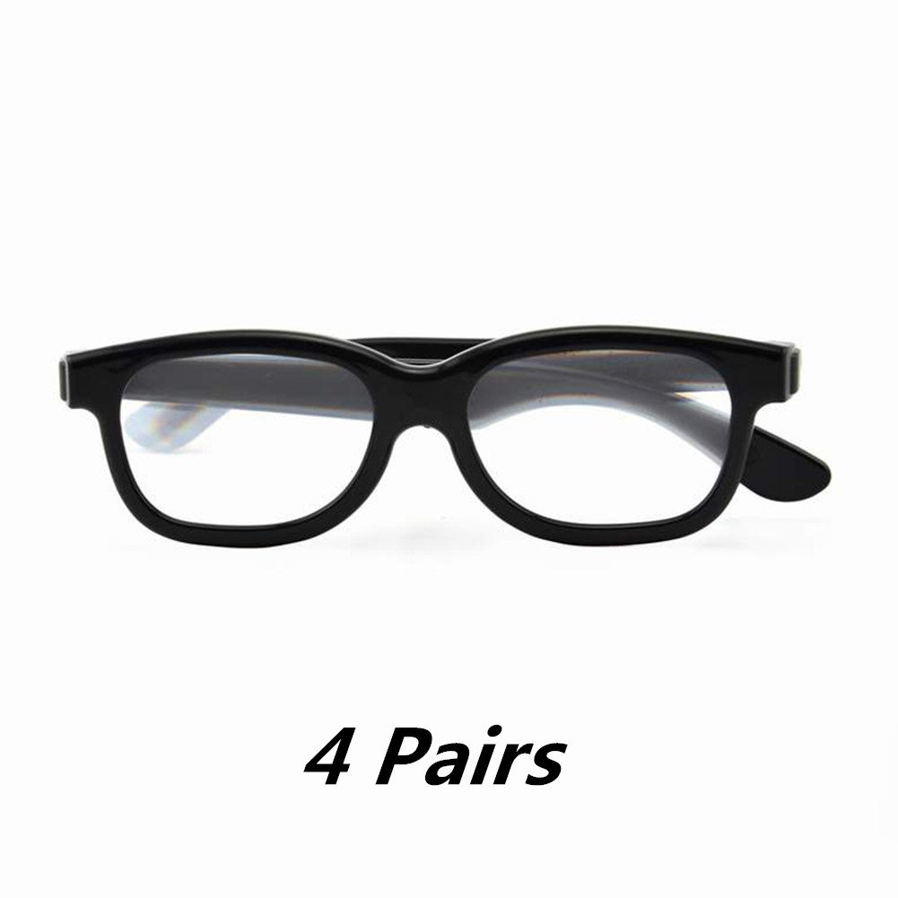 2D Glasses 2 Pack - Turns 3D movies back into 2D - 2 Pairs for SONY, LG, Vizio TV' s and with all other passive 3D Televisions also for use in RealD 3D Theaters! EAHAWORLD