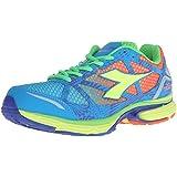 Diadora Men's N-6100-3 running Shoe, Fluorescent Blue/Fluorescent Yellow, 12 M US