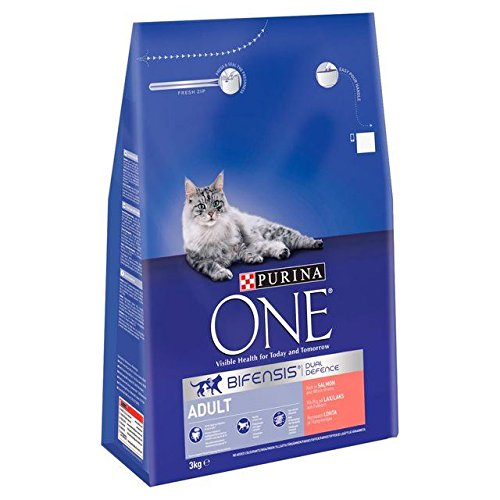 Purina One Adult Salmon & Whole Grains 3kg (PACK OF 2)