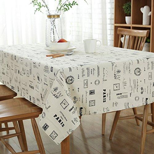 VLIMG Tischdecken , Continental Baumwolle Korn Tischdecke, 90 * 90cm