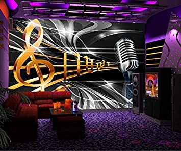 Yosot Wallpaper Murals Dynamic Music Symbol Bar Ktv Background Wall