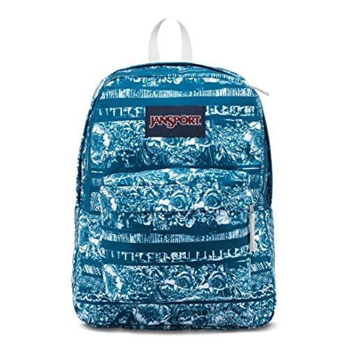 JanSport Superbreak BTS Backpack - (Midnight Sky Floral Stripe) Limited Edition