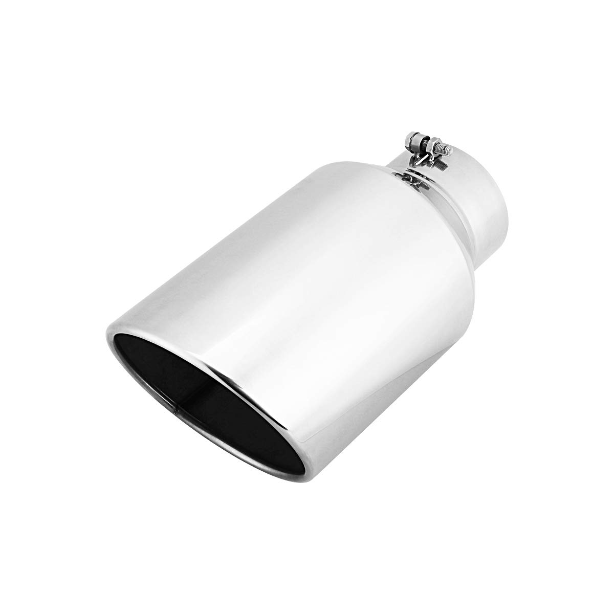 5 Inlet 8 Outlet 15 Long Rolled End Angle Cut Bolt On Exhaust Tip Tail Pipe