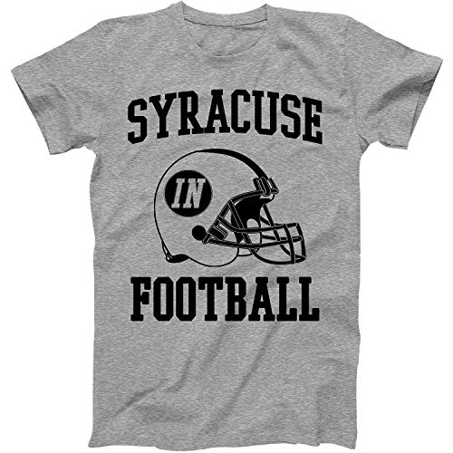 Vintage Football City Syracuse Shirt for State Indiana with in on Retro Helmet Style Grey Size X-Large