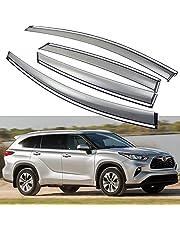 SPEEDLONG Car Window Visor Vent Shade Deflector Sun/Rain Guard Compatible with 2020 2021 2022 Toyota Highlander