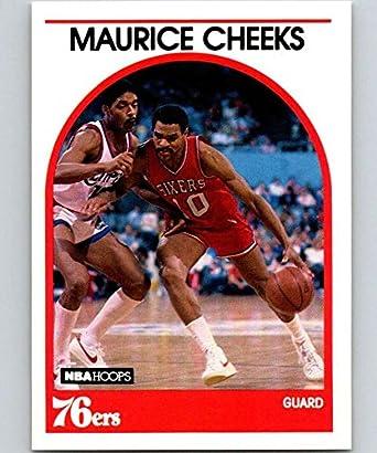59f977b4a4cd 1989-90 Hoops Basketball  65 Maurice Cheeks SP Short Print Philadelphia  76ers Official NBA