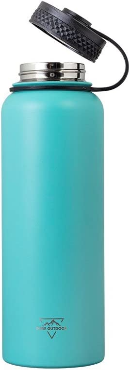 SweatProof Monoprice Vacuum Sealed Wide Mouth Water Bottle 32oz White Insulated | BPA Free Hot and Cold Pure Outdoor Collection