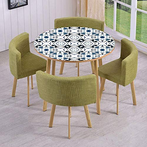 Round Table/Wall/Floor Decal Strikers,Removable,Decorative Petals and Octagon Forms Royal Victorian Figures,for Living Room,Kitchens,Office Decoration