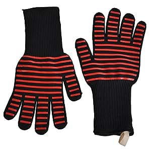 gardtech barbacoa Grill Cocina gloves-300–500°C  932℉) Extreme resistente al calor guantes de silicona gloves-1par (largo)