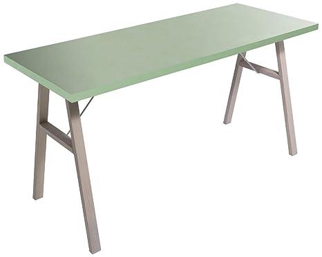 Giessegi job 8757 bureau avec tréteaux bois 58 x 120 x 75 cm