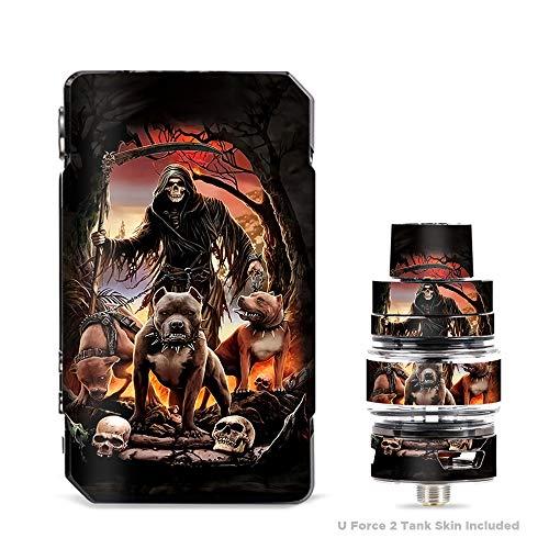 Price comparison product image IT'S A SKIN Decal Vinyl Wrap for VooPoo Drag Mini & UForce T2 Tank Vape Sticker Sleeve Cover / Grim Reaper Pitbull Skulls