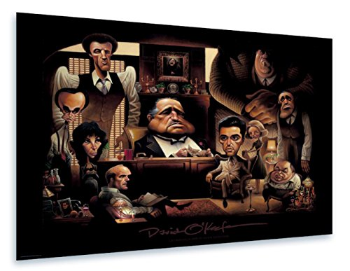 Framed Scarface Movie Poster - O'keefe Prints LaFamiglia. A Tribute to The Godfather Poster 22