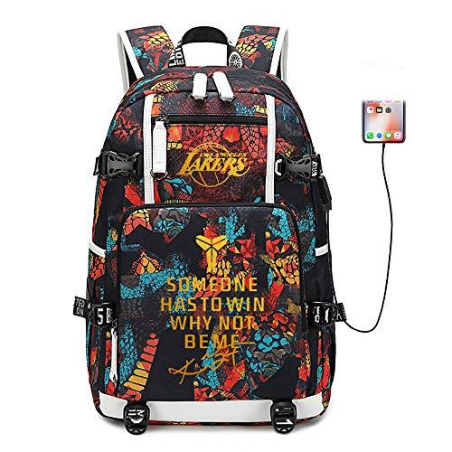 Basketball Player Star Kobe Multifunction Backpack Travel Student Backpack Fans Bookbag for Men Women (Style 1)