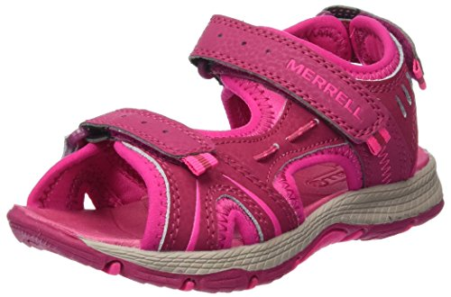 Merrell Panther Athletic Water Sandal (Toddler/Little Kid/Big Kid), Berry, 1 M US Little Kid Merrell Athletic Shoes