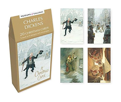 Museums & Galleries (MUT38) Tent Boxed Christmas Cards, Dickens Carol Notes & Queries TENX801