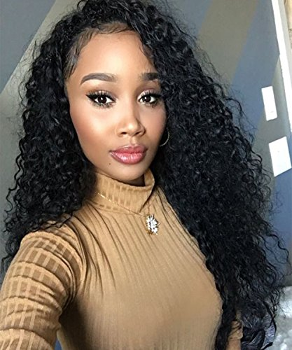 [Mike & Mary Full Lace Human Hair Wigs Top 7A Brazilian Virgin Hair Kinky Curly for Black Women All Handmade Lace Wigs (24inch,] (Daphne And Velma Costumes For Kids)
