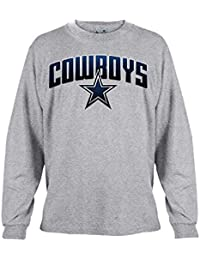 Dallas Cowboys Men's Gray Ascender Long Sleeve T-Shirt