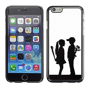 LECELL--Funda protectora / Cubierta / Piel For Apple Iphone 6 Plus 5.5 -- Parejas divertidos Sorpresa --