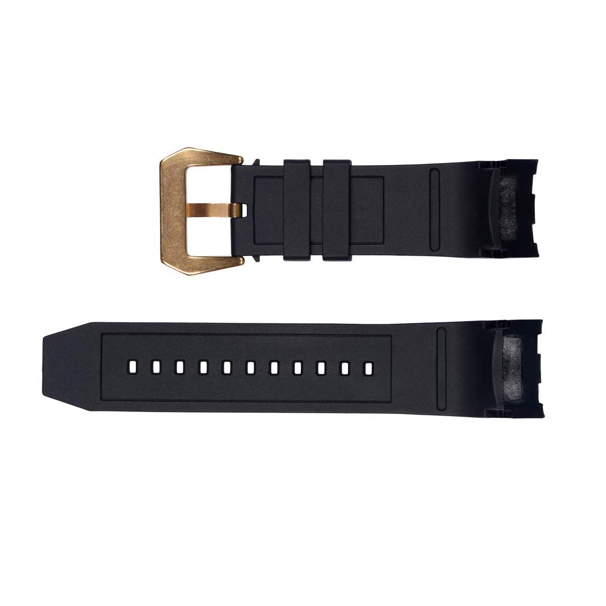 Vicdason for Invicta Pro Diver Watch Bands Replacement Strap with Bukcle Metal Inserts - Black Rubber Silicone Invicta Watch Strap by Vicdason (Image #2)