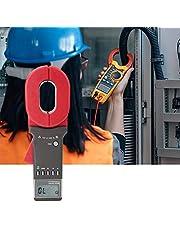 Oumefar Probador de Resistencia Resistencia de Tierra ampliamente Utilizado en el medidor de Pinza de Tierra con Pantalla LCD 99 Grupos para medición de Resistencia de Bucle
